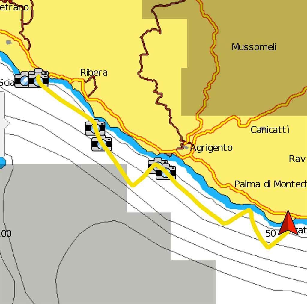 Sciacca Licata rotta periplo Sicilia Fontaine Pajot Saba 50 catamarano barca a vela