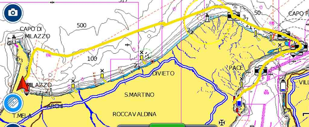 Siracusa Taormina rotta periplo Sicilia Fontaine Pajot Saba 50 catamarano barca a vela