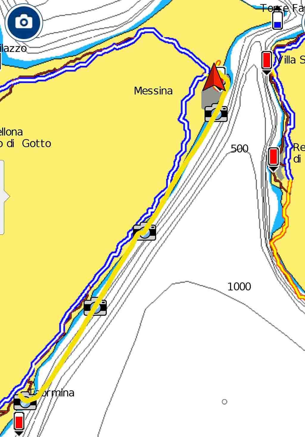 Taormina Messina rotta periplo Sicilia Fontaine Pajot Saba 50 catamarano barca a vela