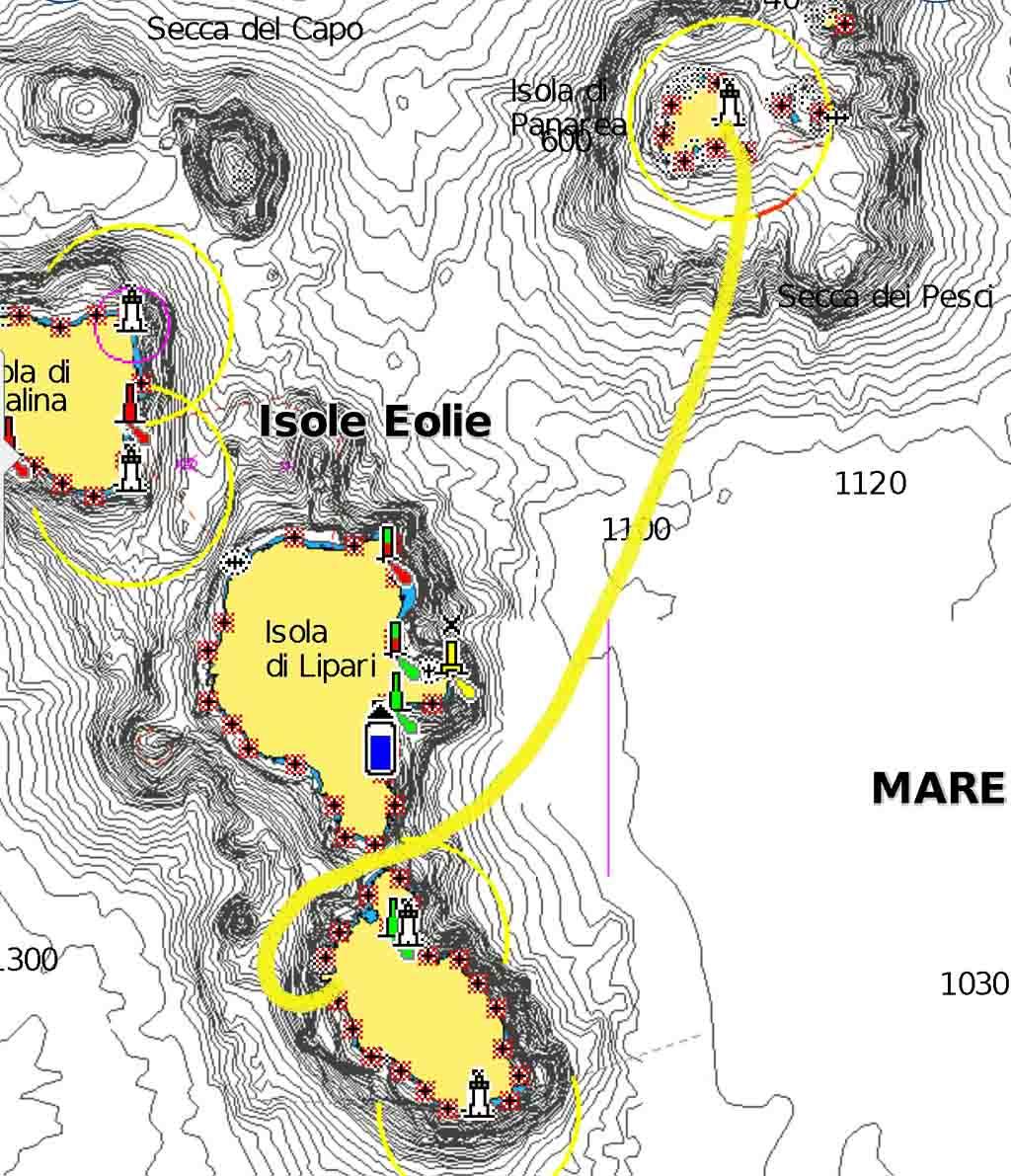 Code zero cala zimmari cala ignuda navigando per le Eolie Fontaine Pajot Saba 50 catamarano barca a vela