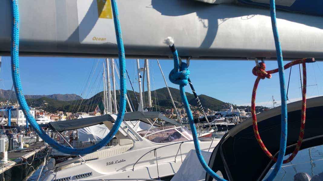 Da dove proviene il vento boma Beneteau Oceanis 31.3 Marina Di Varazze esperienze di vela