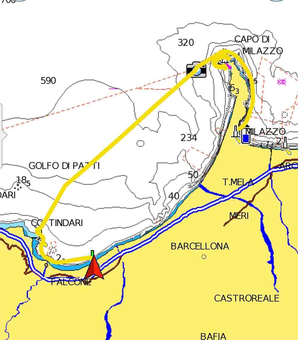 Milazzo Portorosa rotta periplo Sicilia Fontaine Pajot Saba 50 catamarano barca a vela