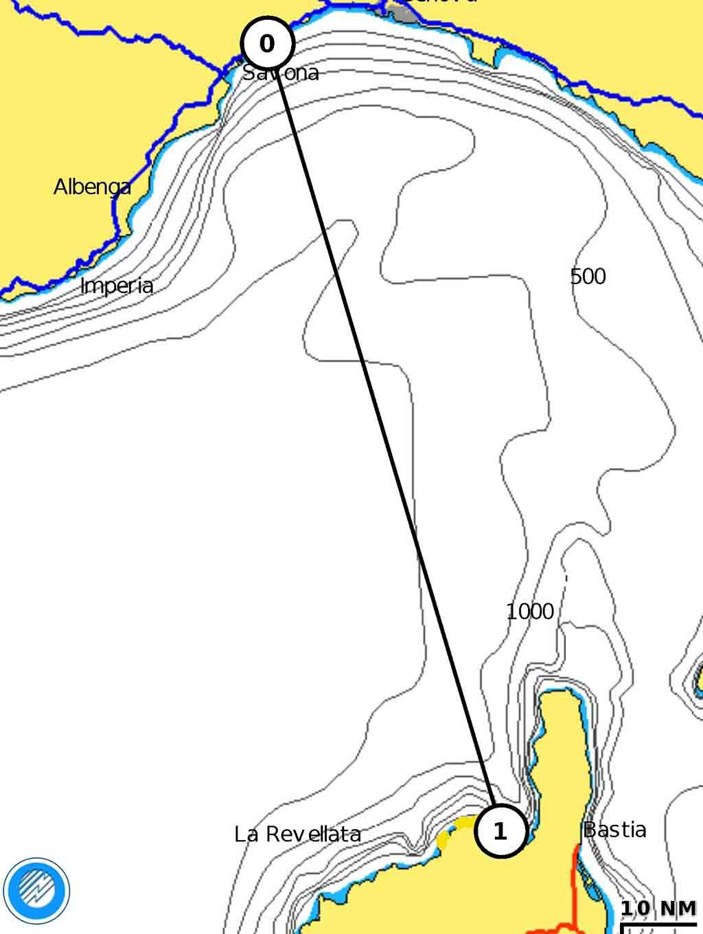 Onda lunga rotta Corsica Cala du Loto navigazione notturna esperienze di vela uscite in barca vela crociere