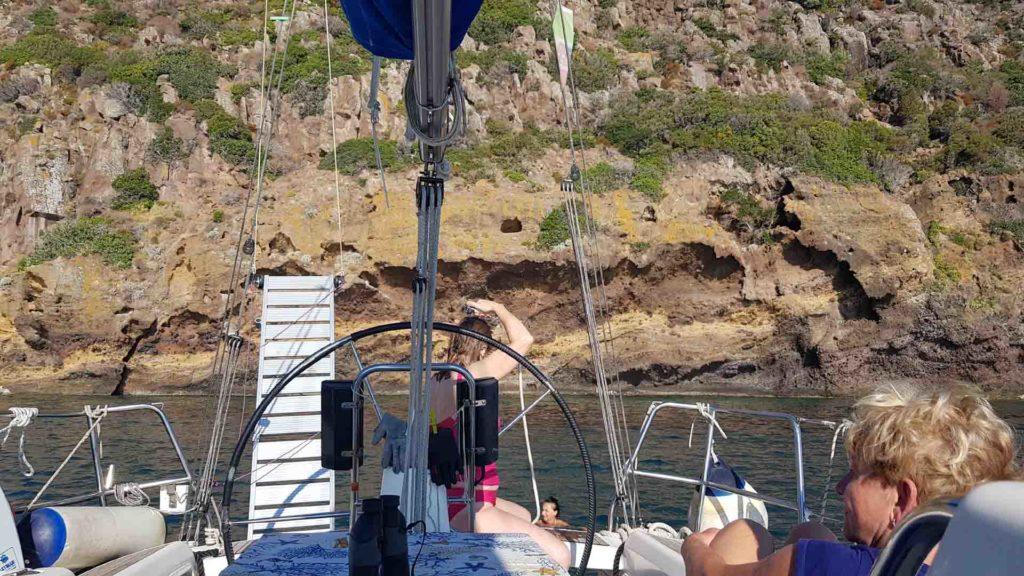 Rada della Mortella isola di Capraia Esperienze Dii Vela